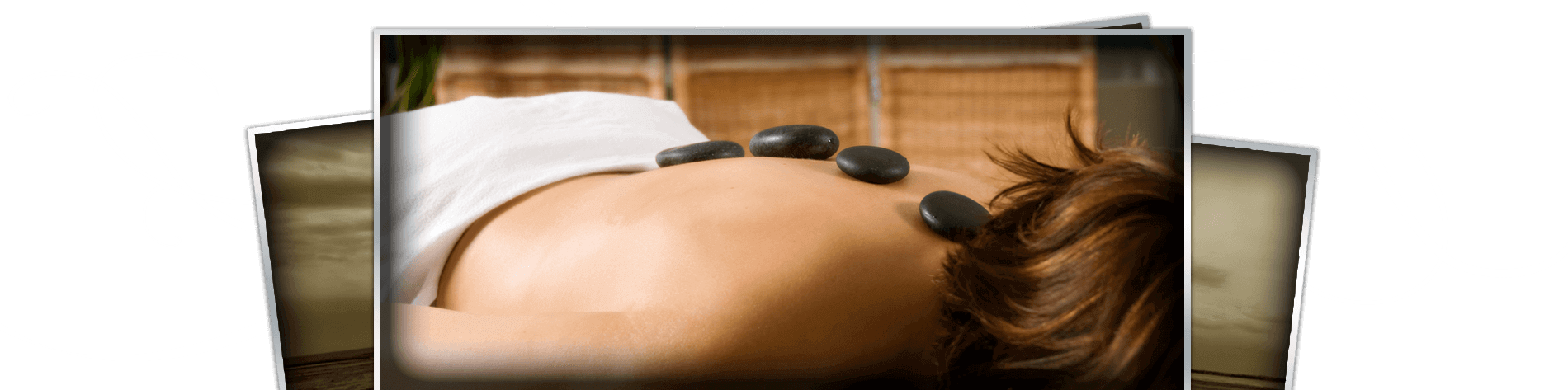 Woman recieving hot stone massage